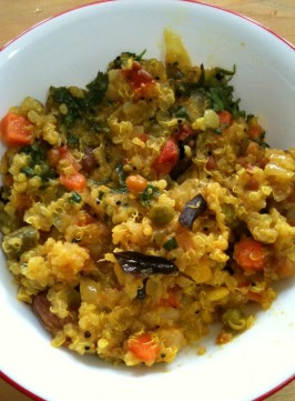 Spicy Quinoa with Vegetables, The Indian Way
